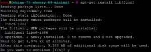 Установка библиотеки lib32gcc1 Debian