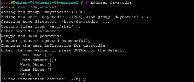 Как создать сервер 7 Days to Die: добавление пользователя