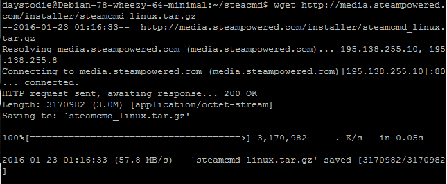 Как создать сервер 7 Days to Die: Скачивание SteamCMD