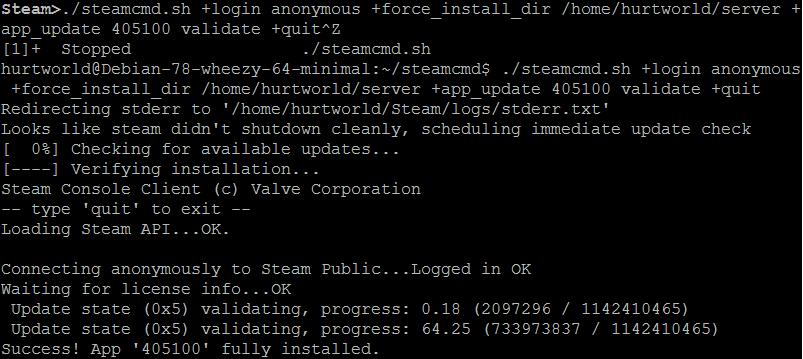 Обновление Hurtworld сервера