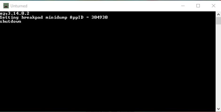 Unturned первый запуск сервера консоль